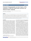"""Báo cáo hóa học: """"  Chemical characterization of extra layers at the interfaces in MOCVD InGaP/GaAs junctions by electron beam methods"""""""