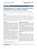 "Báo cáo hóa học: ""  Magnetotransport in quantum cascade detectors: analyzing the current under illumination"""