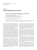 "Báo cáo hóa học: ""  Editorial Network Coding for Wireless Networks"""