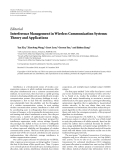 """Báo cáo hóa học: """"   Editorial Interference Management in Wireless Communication Systems: Theory and Applications"""""""