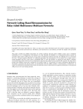 "Báo cáo hóa học: ""   Research Article Network Coding-Based Retransmission for Relay Aided Multisource Multicast Networks"""