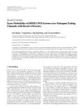 """Báo cáo hóa học: """"  Research Article Error Probability of DPPM UWB Systems over Nakagami Fading Channels with Receive Diversity"""""""