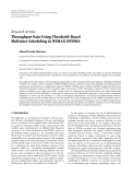 "Báo cáo hóa học: "" Research Article Throughput Gain Using Threshold-Based Multiuser Scheduling in WiMAX OFDMA"""