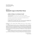 "Báo cáo hóa học: ""  Editorial Takahashi's Legacy in Fixed Point Theory"""