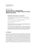 """Báo cáo hóa học: """" Research Article The Over-Relaxed A-Proximal Point Algorithm for General Nonlinear Mixed Set-Valued Inclusion Framework"""""""