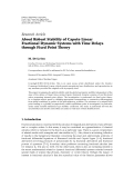 """Báo cáo hóa học: """" Research Article About Robust Stability of Caputo Linear Fractional Dynamic Systems with Time Delays through Fixed Point Theory"""""""