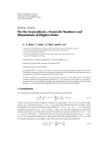 """Báo cáo hóa học: """" Review Article On the Generalized q-Genocchi Numbers and Polynomials of Higher-Order"""""""