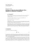 "Báo cáo hóa học: ""  Research Article Solutions to Time-Fractional Diffusion-Wave Equation in Cylindrical Coordinates"""