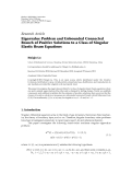 """Báo cáo hóa học: """" Research Article Eigenvalue Problem and Unbounded Connected Branch of Positive Solutions to a Class of Singular Elastic Beam Equations"""""""
