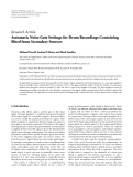 "Báo cáo hóa học: ""  Research Article Automatic Noise Gate Settings for Drum Recordings Containing Bleed from Secondary Sources"""