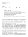 """Báo cáo hóa học: """" Editorial Advanced Equalization Techniques for Wireless Communications"""""""