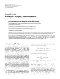 """Báo cáo hóa học: """" Research Article A Study on Conjugate Quadrature Filters"""""""