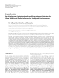 "Báo cáo hóa học: "" Research Article Particle Swarm Optimization Based Noncoherent Detector for Ultra-Wideband Radio in Intensive Multipath Environments"""