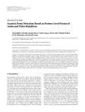 """Báo cáo hóa học: """" Research Article Acoustic Event Detection Based on Feature-Level Fusion of Audio and Video Modalities"""""""