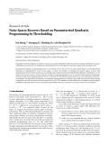 "Báo cáo hóa học: ""  Research Article Noisy Sparse Recovery Based on Parameterized Quadratic Programming by Thresholding Jun Zhang,1, 2 Yuanqing Li,1 Zhuliang Yu,1 and """