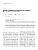 """Báo cáo hóa học: """"  Research Article Adaptive Linear Prediction Filtering in DWT Domain for Real-Time Musical Onset Detection"""""""