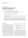 "Báo cáo hóa học: "" Research Article Matrix-Variate Probabilistic Model for Canonical Correlation Analysis"""
