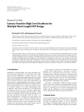 """Báo cáo hóa học: """" Research Article Latency-Sensitive High-Level Synthesis for Multiple Word-Length DSP Design"""""""