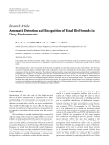 """Báo cáo hóa học: """" Research Article Automatic Detection and Recognition of Tonal Bird Sounds in Noisy Environments"""""""
