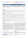 "Báo cáo hóa học: "" Effect of civil war on medical education in Liberia"""