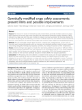 "Báo cáo hóa học: "" Genetically modified crops safety assessments: present limits and possible improvements"""