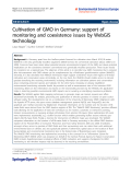 """Báo cáo hóa học: """"  Cultivation of GMO in Germany: support of monitoring and coexistence issues by WebGIS technology"""""""
