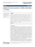 "Báo cáo hóa học: "" Quality of service provision in mobile multimedia - a survey"""