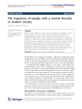 """Báo cáo hóa học: """"  The happiness of people with a mental disorder in modern society"""""""