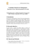 """Báo cáo khoa học nông nghiệp """" Community Based Forest Management - Experiences from CARE international in Viet nam """""""