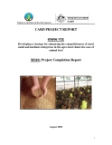 Báo cáo khoa học định kỳ:  Developing a strategy for enhancing the competitiveness of rural small and medium enterprises in the agro-food chain: the case of animal feed (MS10)