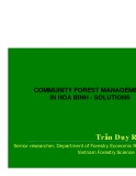 COMMUNITY FOREST MANAGEMENT IN HOA BINH - SOLUTIONS