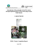 Báo cáo định kỳ: Introduction of the principles of GAP for citrus through implementation of citrus IPM using Farmer Field Schools (MS10)