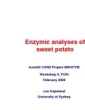 """Báo cáo khoa học nông nghiệp """" Enzymic analyses of sweet potato """""""