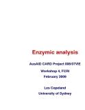 """Báo cáo khoa học nông nghiệp """" Enzymic analysis """""""