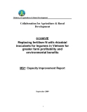 """Dự án nông nghiệp """" Replacing fertiliser N with rhizobial inoculants for legumes in Vietnam for greater farm profitability and environmental benefits """" MS7"""