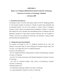 """Dự án nông nghiệp """" Report on Training in Rhizobial Inoculant Production Technology Suranaree University of Technology, Thailand """""""