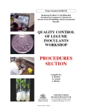 QUALITY CONTROL OF LEGUME INOCULANTS WORKSHOP - PROCEDURES SECTION