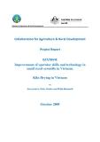 Báo cáo khoa học nông nghiệp: Improvement of operator skills and technology in small rural sawmills in Vietnam: Kiln Drying in Vietnam