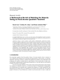 Báo cáo: A Mathematical Revisit of Modeling the Majority Voting on Fixed-Income Quadratic Taxations