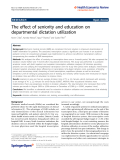 Bax et al. Health Economics Review 2011, 1:8