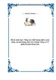 Nâng cao chất lượng dịch vụ ăn uống  tại nhà hàng Hoa Sen I thuộc công ty Cổ phần Du lịch Kim Liên