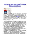 Ngừng tải trang chưa đọc để tiết kiệm bộ nhớ trên Firefox