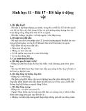 Sinh học 11 - Bài 17 - Hô hấp ở động vật