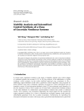 """Báo cáo hóa học: """"  Research Article Stability Analysis and Intermittent Control Synthesis of a Class of Uncertain Nonlinear Systems"""""""