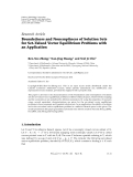"""Báo cáo hóa học: """" Research Article Boundedness and Nonemptiness of Solution Sets for Set-Valued Vector Equilibrium Problems with an Application"""""""
