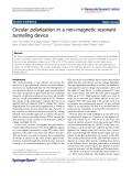 "Báo cáo hóa học: ""  Circular polarization in a non-magnetic resonant tunneling device"""