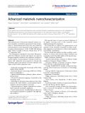 "Báo cáo hóa học: "" Advanced materials nanocharacterization"""