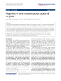 "Báo cáo hóa học: ""  Properties of gold nanostructures sputtered on glass"""