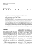 """Báo cáo hóa học: """" Research Article Master Synchronization in Physical-Layer Communications of Wireless Sensor Networks"""""""