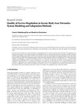 """Báo cáo hóa học: """"  Research Article Quality of Service Regulation in Secure Body Area Networks: System Modeling and Adaptation Methods"""""""